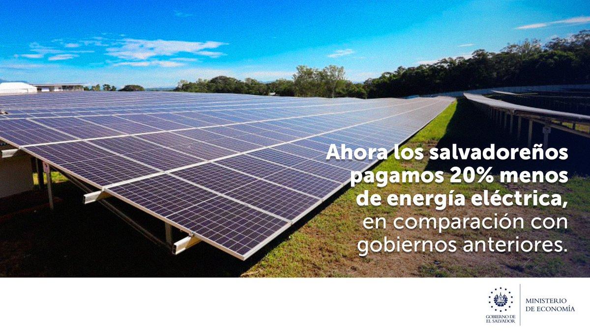 El Gobierno del Presidente @nayibbukele trabaja de manera articulada para abaratar los costos de la energía eléctrica, en beneficio de la #EconomíaFamiliar de los salvadoreños. https://t.co/xVQ77qBHyz