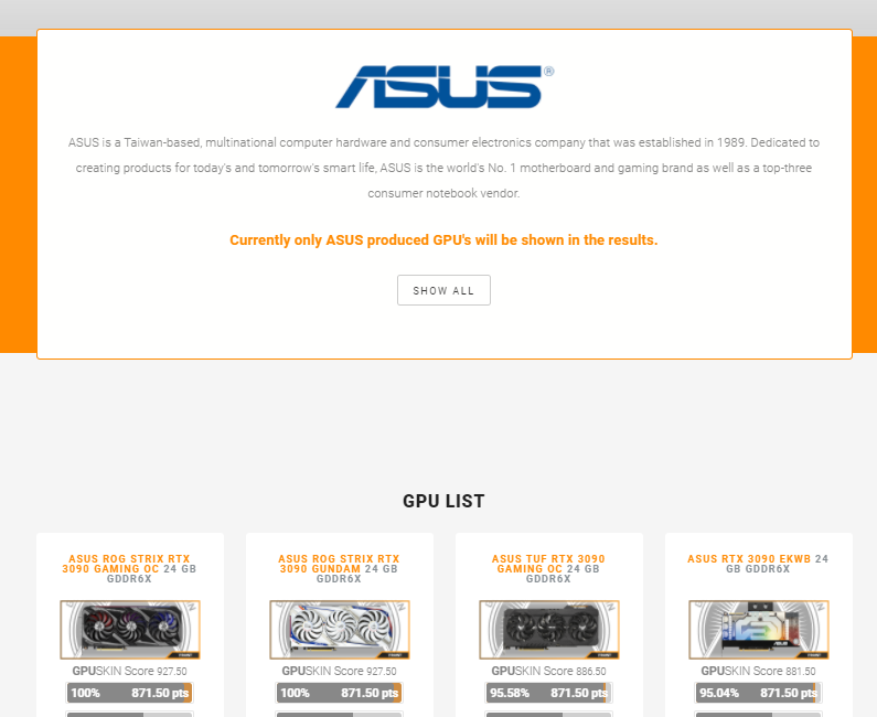 All ASUS cards are now added to the GPUSKIN GPU Database, go check them out at: https://t.co/N4L0YaDUUj Lot's more to come! #staytuned #ASUS #nvidia #amd #teamred @ASUS https://t.co/tYcULHXxjM