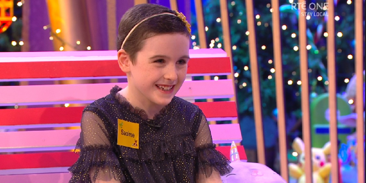 Lovely to see one of our virtual fundraisers, Saoirse Ruane, appearing on the #LateLateToyShow tonight 💛 Saoirse is an 8 year old cancer survivor and all round legend. Congrats Saoirse and enjoy Disney World 🌈