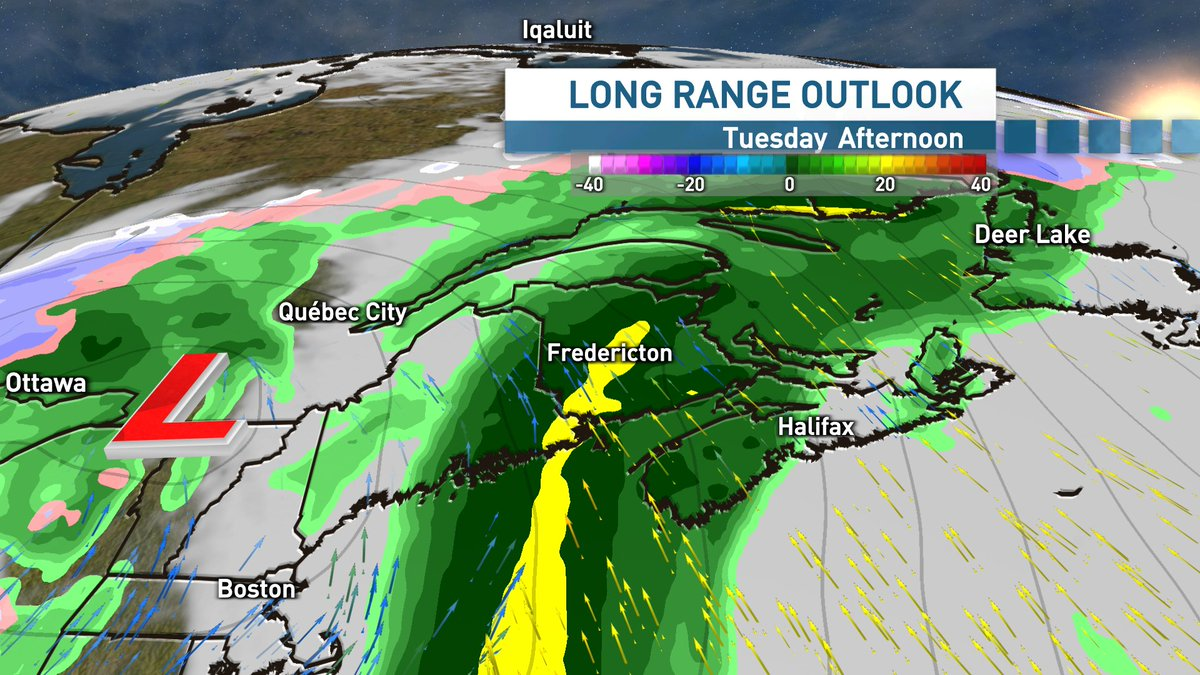 If you haven't yet cleared out your storm drains and downspouts this fall, you might want to do so this weekend.  An incoming fall storm on Tuesday into Wednesday will bring some very rain, along with gusty winds and mild temperatures. #staytuned  #nbstorm #nbwx #nsstorm #nswx https://t.co/ajcTjFO9nW
