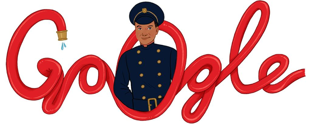 A #GoogleDoodle to honor Guyanese-British firefighter, trade unionist, & social worker Frank Bailey, known as the 1st Black firefighter in post-war London 🇬🇧🚒  Learn about Bailey's life & legacy →   🎨 by guest artist @nicolemillu
