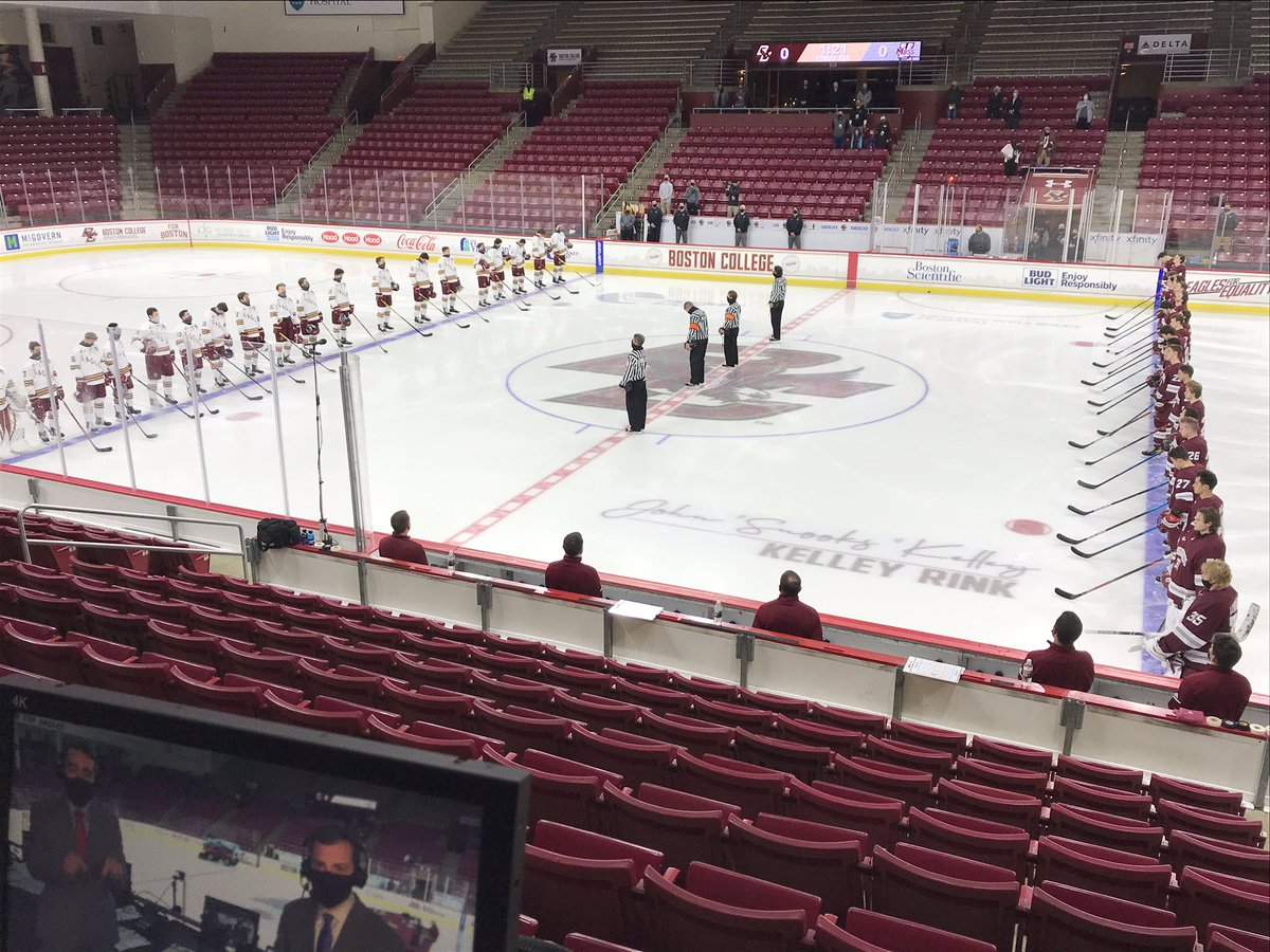 RT @ericgallanty: Excited to be back. #2 @BCHockey and #7 @UMassHockey from Conte Forum with @BillSpaulding on @NESN https://t.co/35vVBs6v0t