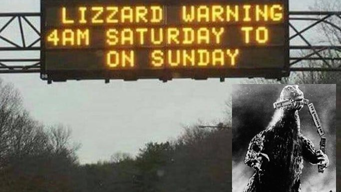 Please be careful this weekend...... #weekend #Travel #safetravels #safetyfirst #godzilla