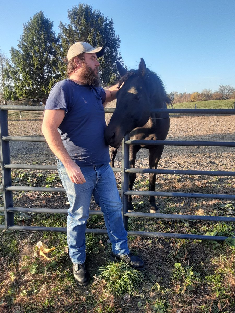 I never met this horse before but we're friends now. Since we're friends neither of us will be riding one another. #friends #horse #horses #farm #pals #buds #vegan #country #redneck #cowboy #kind #friendly #happy https://t.co/k3gWOBNBLC