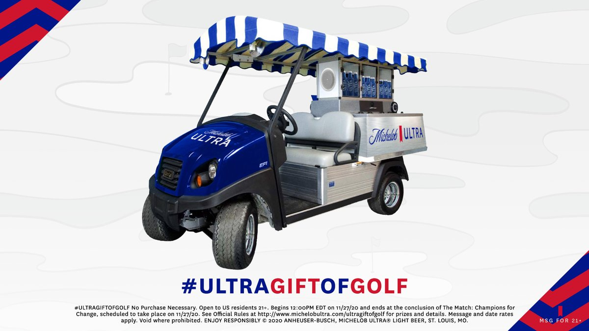 At last, the moment we've all been waiting for. The beer cart. Reply with #ULTRAGiftofGolf and #Sweepstakes for chance to win the ultimate trophy-on-wheels.