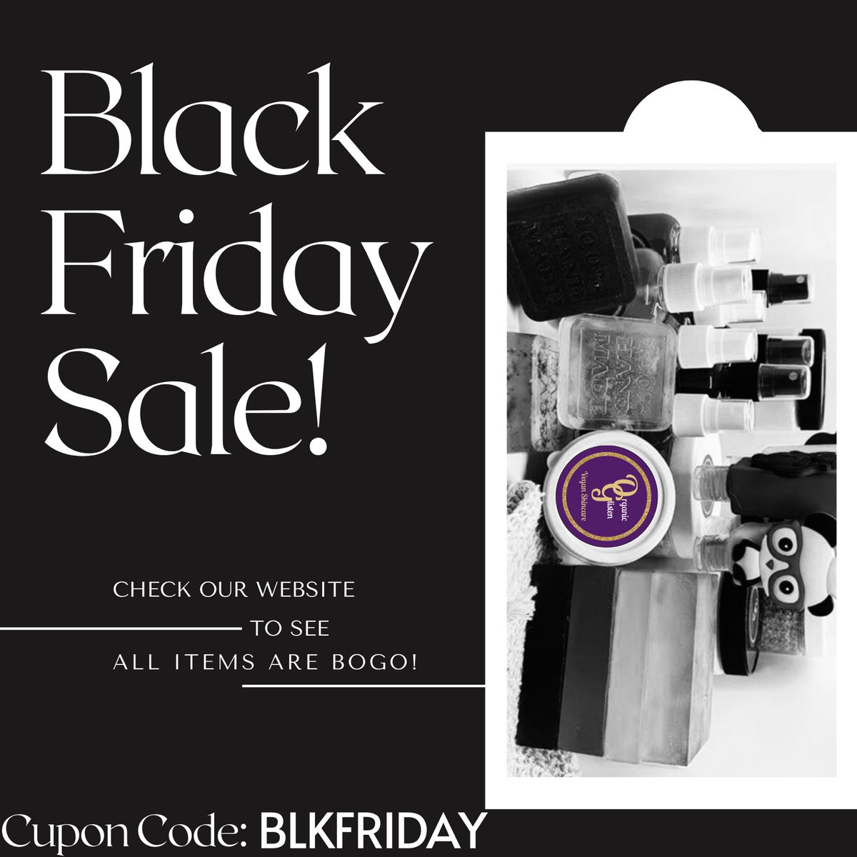 @KarlousM Make sure you all head to the website today! Coupon code: BLKFRIDAY Who doesn't like free?! Stock UP for the lockDOWN! 🧼  🌱  #vegan #soap #Blackfridaydeals #Blackfriday #Blackfridaysale2020  https://t.co/R4Zxe3ygSk https://t.co/4Dxcs14FfG