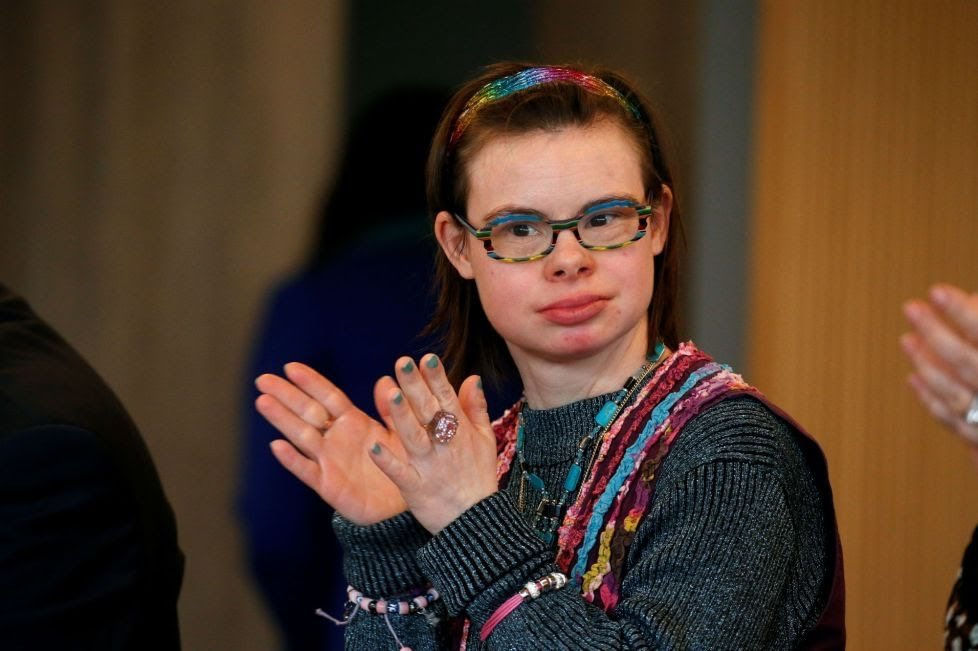 Eleonore Laloux, author, hospital administrator and France's first political candidate with Down's Syndrome. https://t.co/1UPmn8R3t4