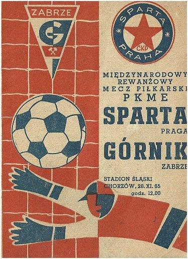 🗓️ 28 listopada 1965 r. na Stadionie Śląskim w Pucharze Europejskich Mistrzów Krajowych doszło do meczu pomiędzy Górnikiem Zabrze i Spartą Praga. Na trybunach zasiadło ~35000 widzów. Gola dla zabrzan zdobył Zygfryd Szołtysik.  #górnikzabrze #spartapraha #puchary #acsparta #ucl
