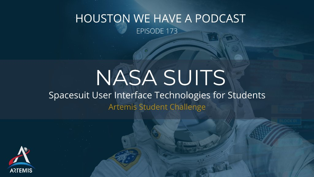 """Celebrate #BlackHoleFriday by checking out the latest episode of """"Houston, We Have a Podcast!""""  Discover how college students are contributing to @NASA missions by designing spacesuit information displays for the #NASASUITS Artemis Student Challenge.🌟  https://t.co/lf4hLaisvQ https://t.co/yWZMN4pLw5"""