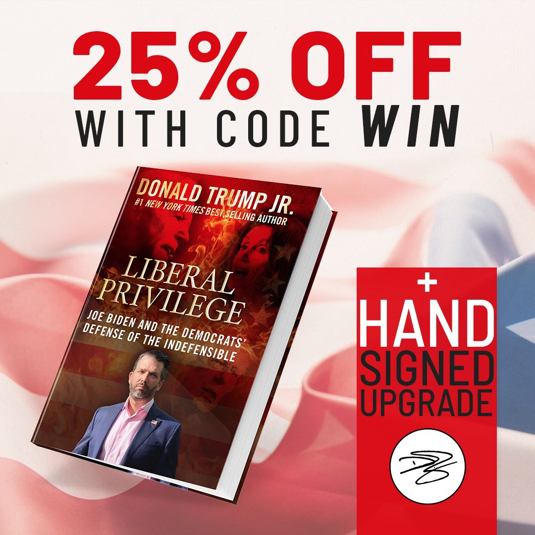 Guys for #BlackFriday we are doing an awesome sale of Liberal Privilege. Get 25% off and a free upgrade to the autographed version only on https://t.co/YsGnjdDOMA.  A great gift for the conservatives in your life or to troll the liberals you love. Check It Out!!! https://t.co/Mn5vU6usPf