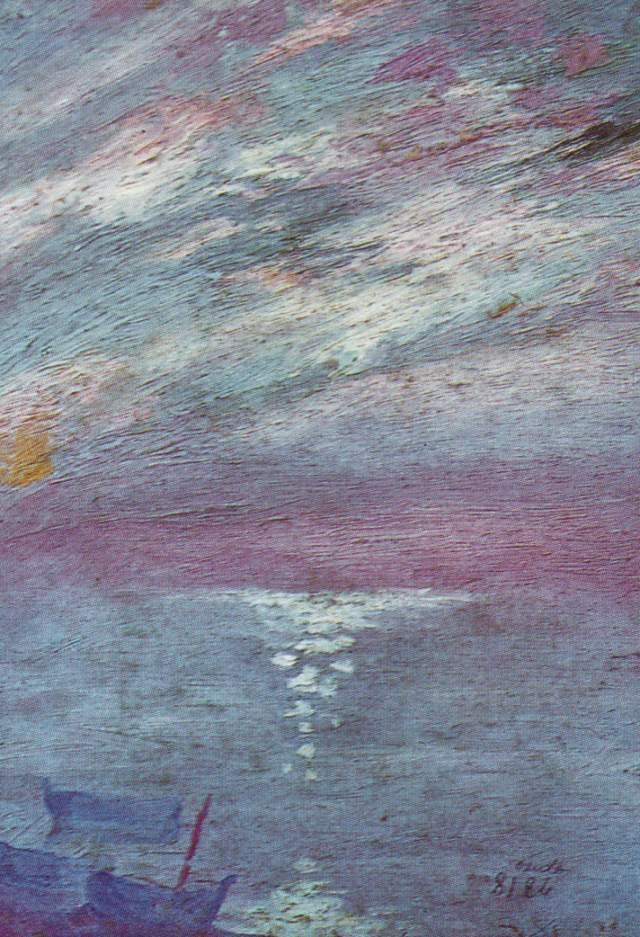 Moonlight Over the Bay At, Cadaques, 1920 #dali #impressionism