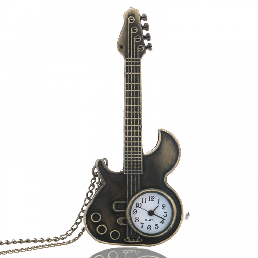 #makeup #bestoftheday Unisex Antique Guitar Shaped Pocket Watches