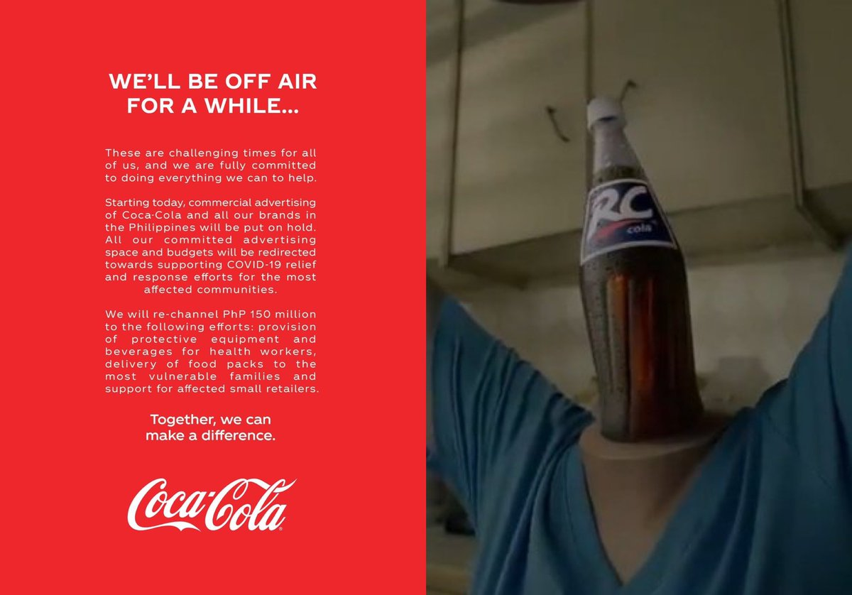 Creatives Of Manila On Twitter Coke In March We Ll Get Through This Rc Cola In November F Ck This Sh T