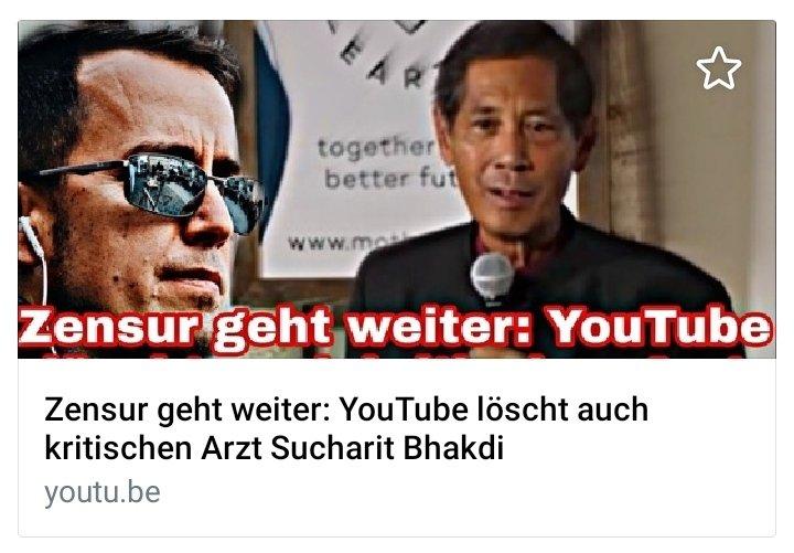Ignaz Bearth über die grassierende #Zensur: Youtube löscht den Kanal von Sucharit #Bhakdi (