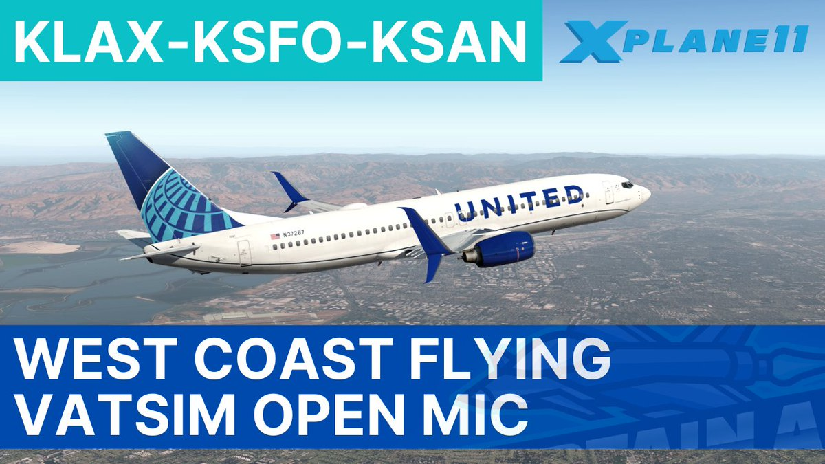 Join me live as I fly in @vatusa Open Mic - Los Angeles to San Francisco to San Diego on @vatsim in @XPlaneOfficial!  Live at 0000Z.  https://t.co/tsDxwTeuDD  #aviation #flightsim #youtube #vatsim #xplane #vatusa #openmic #streaming #usa #la #sfo #sandiego #gaming https://t.co/eVQaWUJOKD