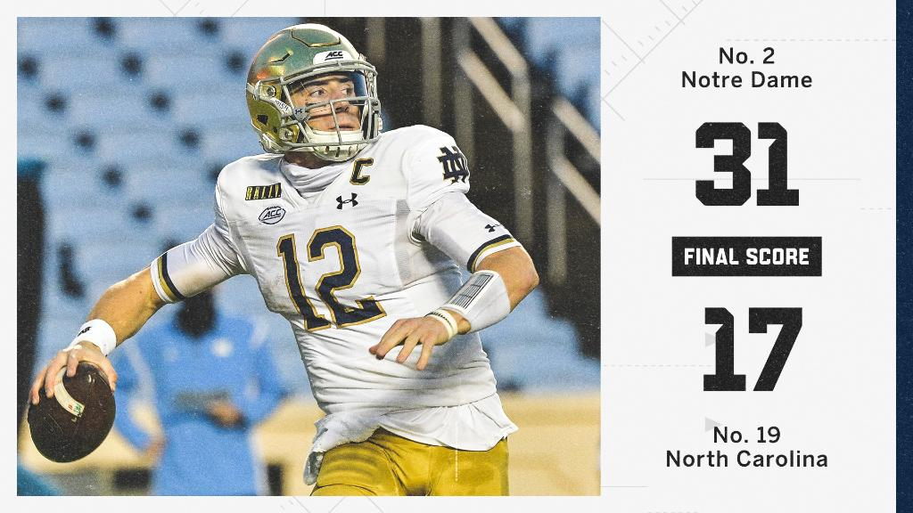 Notre Dame takes care of business in Chapel Hill to stay perfect 🙌