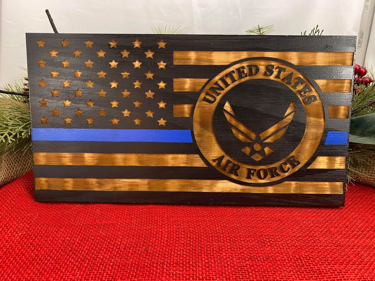 Excited to share the latest addition to my #etsy shop: Laser engraved flag with United States Air Force Emblem can be personalized  #black #veteransday #entryway #flag #laserengraved #unitedstatedflag #veteran #airforce #airforceflag
