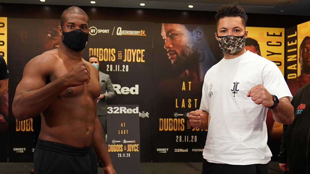 Heavy-hitting heavyweights go head-to-head tomorrow afternoon.  Daniel Dubois: 15-0, 14 KOs💥 Joe Joyce: 11-0, 10 KOs💥  #DuboisJoyce   SATURDAY   2 PM ET   ESPN+