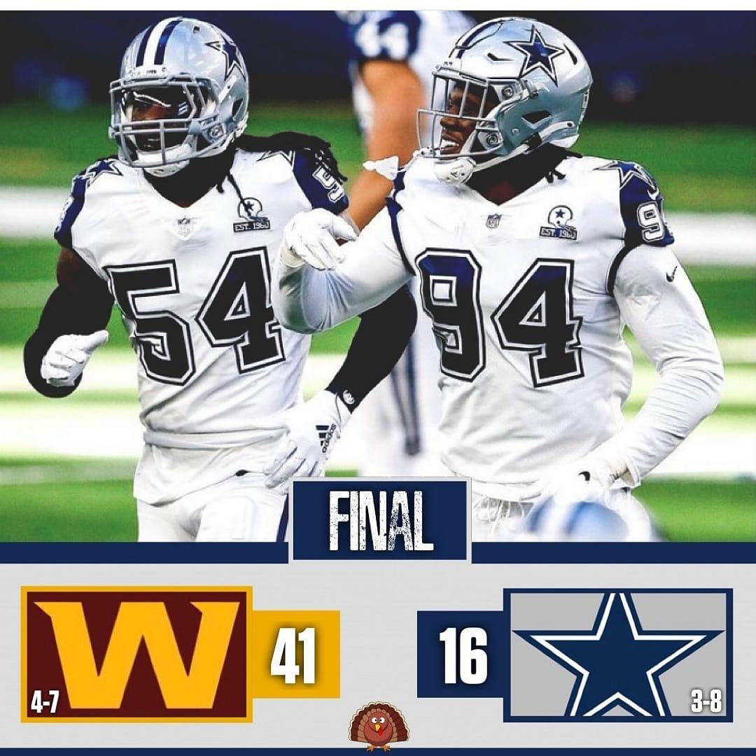 Washington Football Team 41 VS Dallas Cowboys 16 #wasvsdal 🏈🏈
