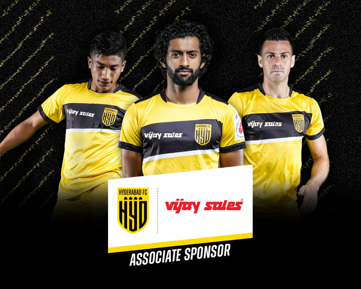 Here's to a long and fruitful association. Welcome aboard, @VijaySales.  @HydFCOfficial #HarKadamNayaDum #HyderabadFC 💛🖤