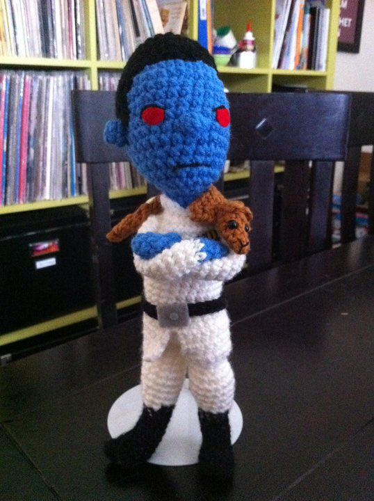 In 2011 I made a Grand Admiral Thrawn for my nephew and no one knew who he was so we are pretty excited over here! #notforsale #thrawn #Mandalorian https://t.co/YGJHlO1RVG