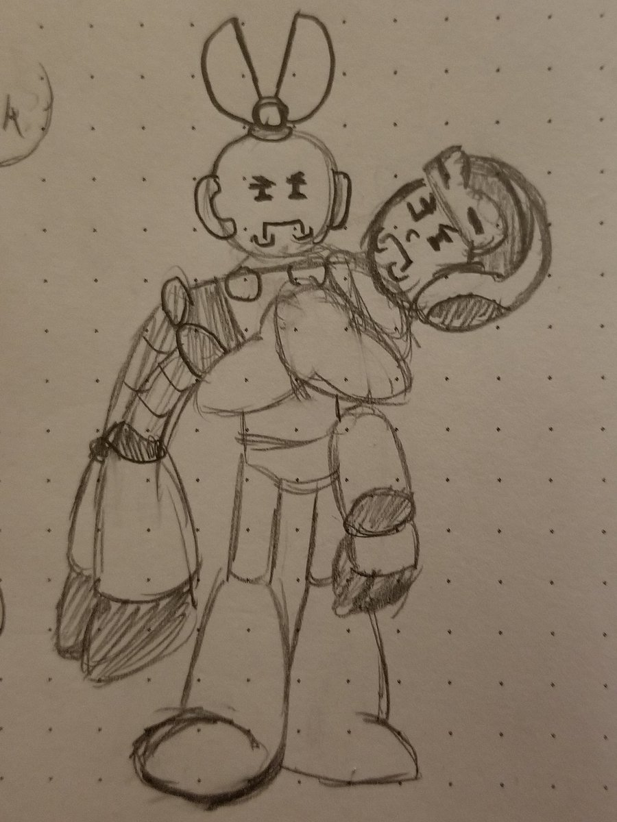 So this is a reference that literally only I will get but the drawing is hilarious anyway so there. #CutMan #MightyNo9 #MegaMan #ArtistOnTwitter https://t.co/Cq06ek5qiX