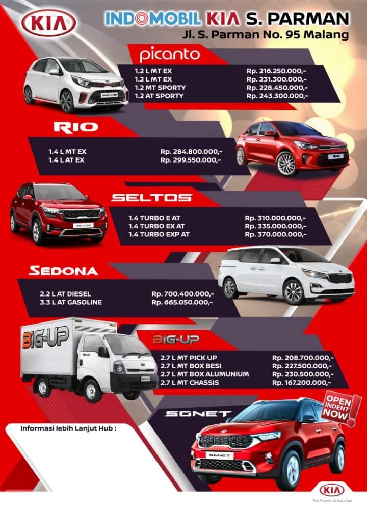 Update harga mobil KIA untuk wilayah Malang Jawa Timur