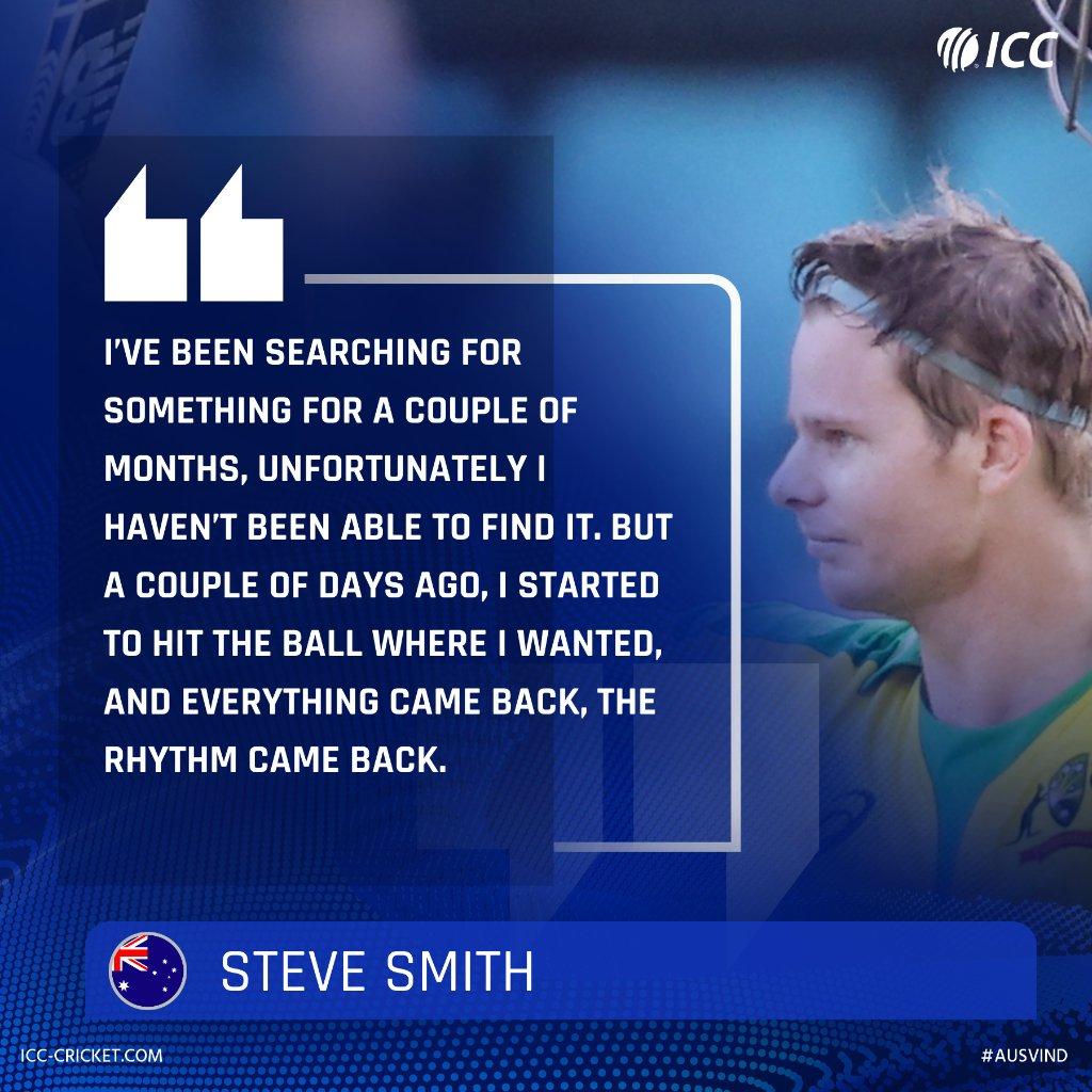 🏏 105 (66) 💥 11 fours 💥 Four sixes Steve Smith has got his mojo back! #AUSvIND