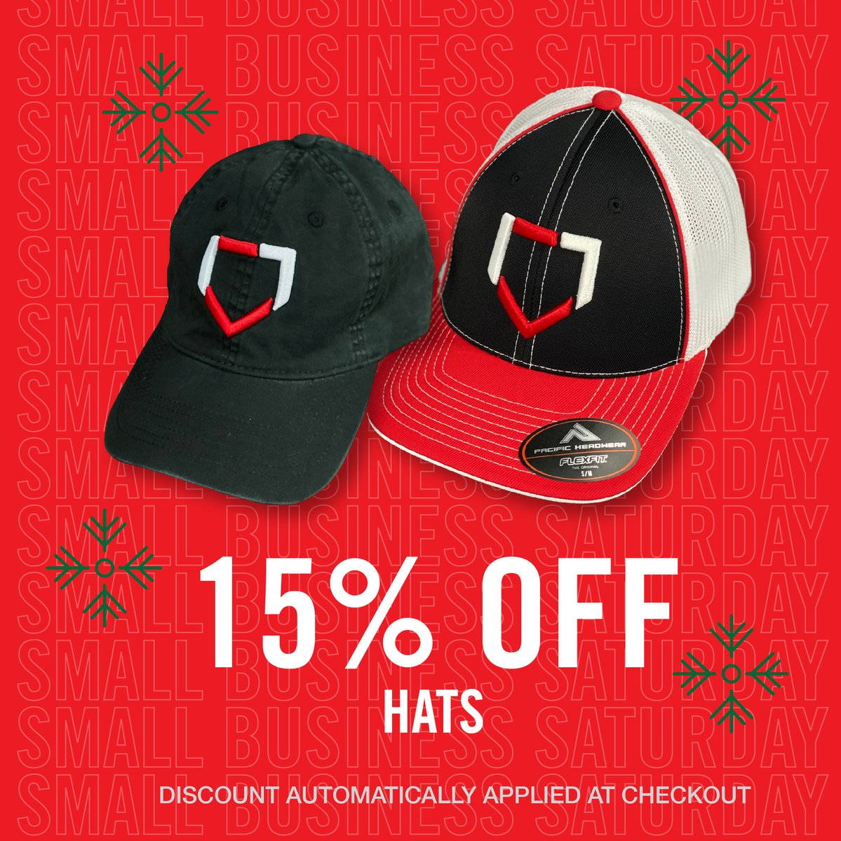 Thanks to those who have supported our youth baseball and softball programs this year. 👊Enjoy 15% off hats today in celebration of #SmallBusinessSaturday! #Play17  Shop 👉
