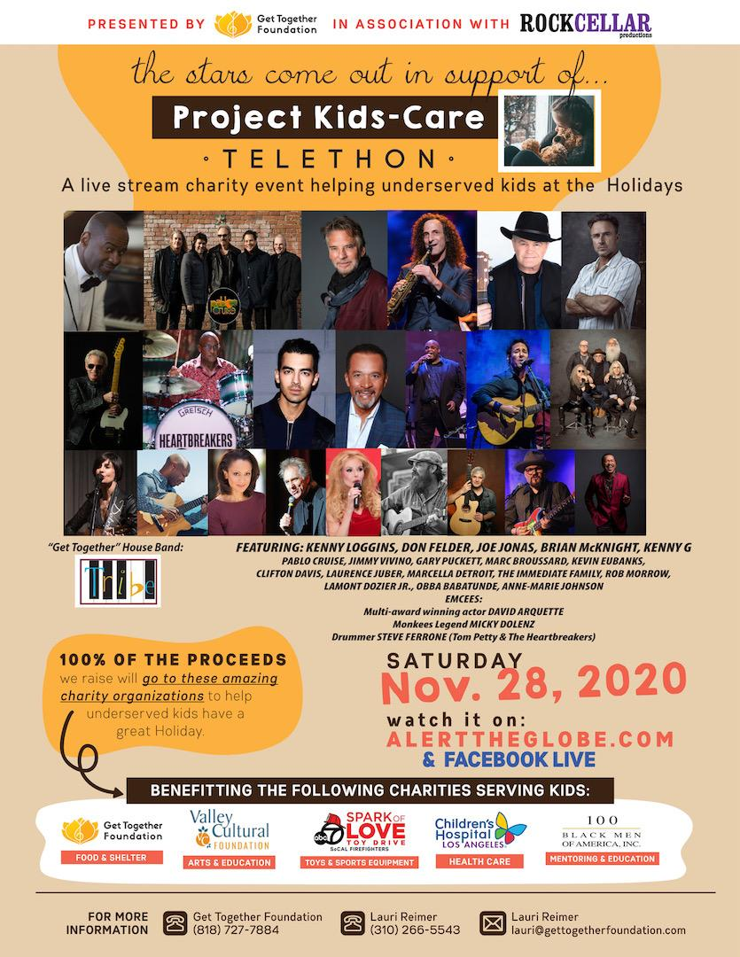 Looking forward to tomorrow's @GetTogetherLA @RockCellarMag #ProjectKidsCare livestream all-star benefit holiday #concert event featuring @Kevin_Eubanks @ObbaBabatunde @AMJLOVESLA + many more!!🎶 Saturday, Nov 28 starting at 3 PM PST / 6 PM PST Watch at