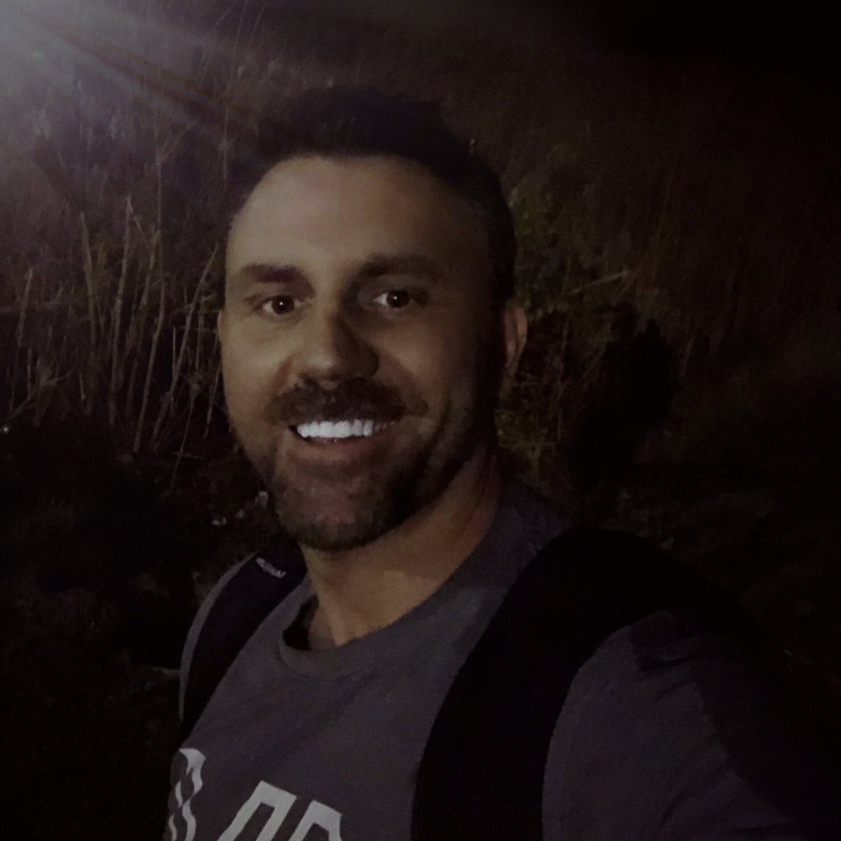 This moonlight is making my teeth look really white on a Friday night 🦷 🌙 I think I'll hang outside awhile and just keep smiling lol #TGIF #country #countrymusic #smile
