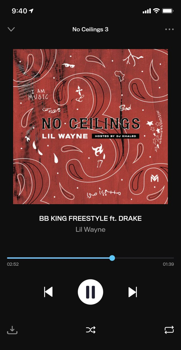 If Drake raps like he did on this on #CertifiedLoverBoy... it's over for your favorite rapper. #NoCeilings3