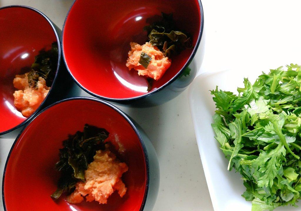 菊菜はネギの代わりに使います。(^^)bいつものお味噌汁を美味しく by キッチン☆福にゃん
