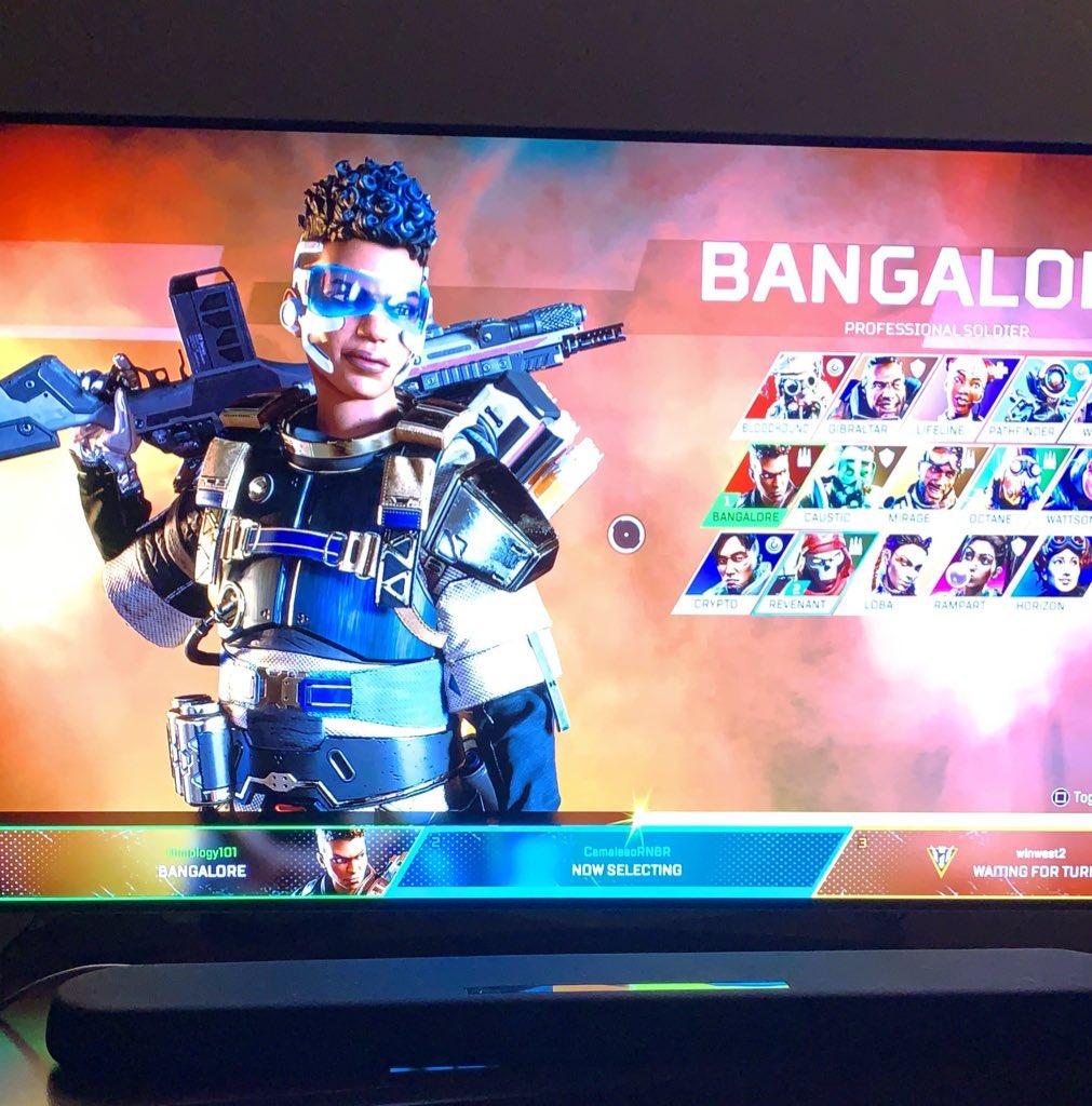 What can I say, I watched the first hour and the after a long week but good week went to play @PlayApex. Mirage is my main character but Bangalore rocks! twitter.com/davidakin/stat…