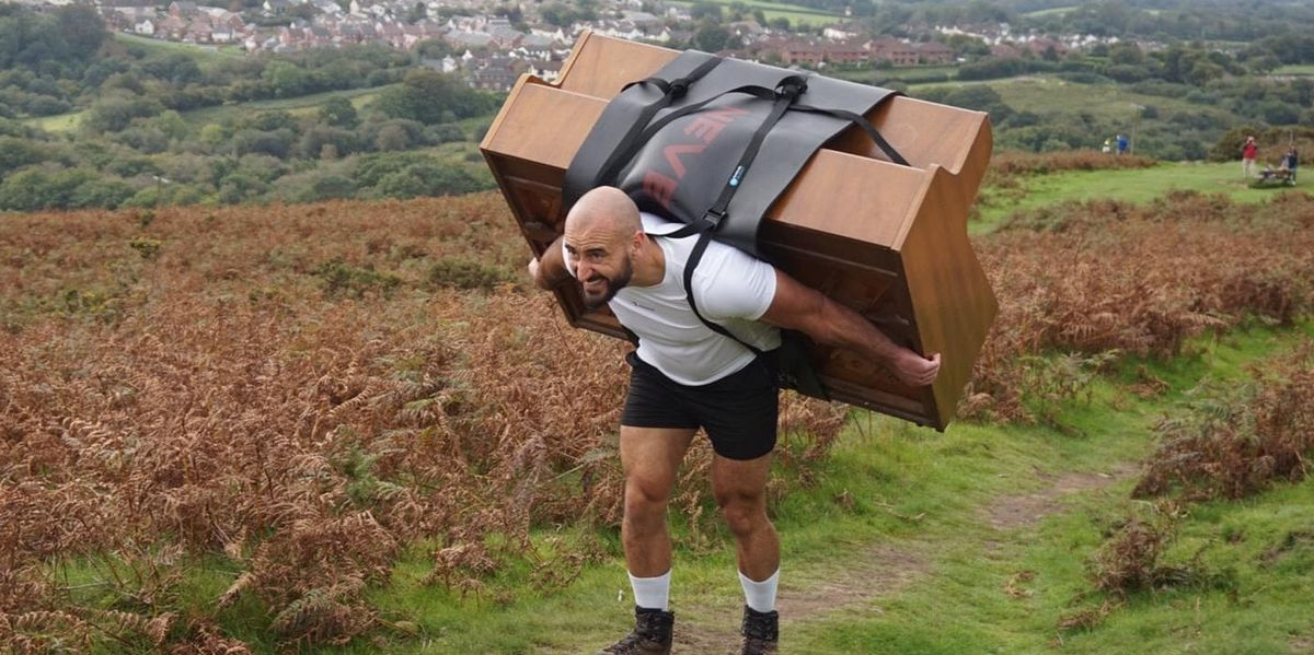 This Guy Carried a Full-Size Piano Up a Mountain for a Fitness Stunt  #fitnessjourney #fitfam