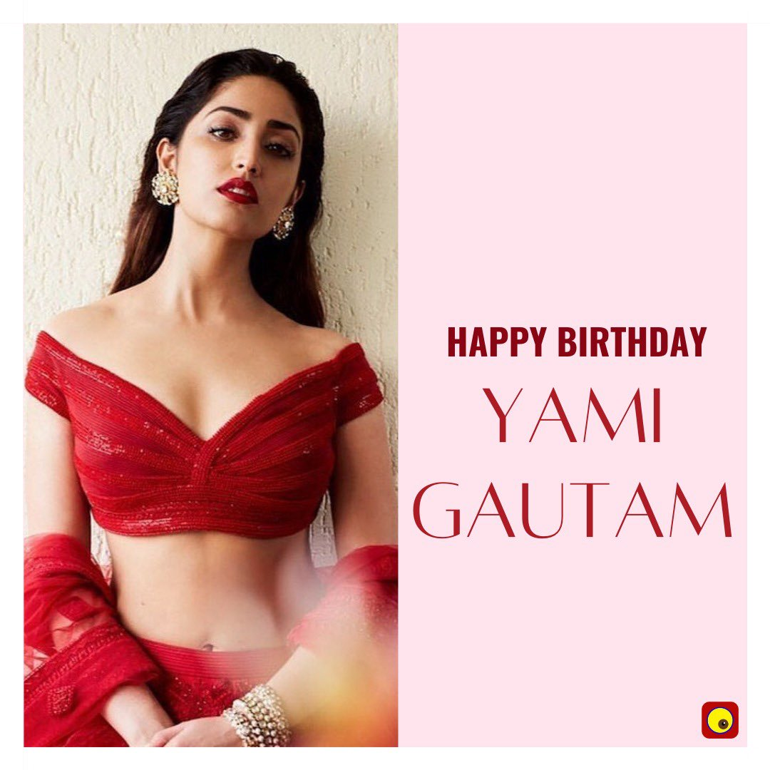 Here's wishing the B-Town's gorgeous diva #YamiGautam a very happy birthday!  . . . #Bollywood  #HappyBirthdayYamiGautam  #GinnyWedsSunny