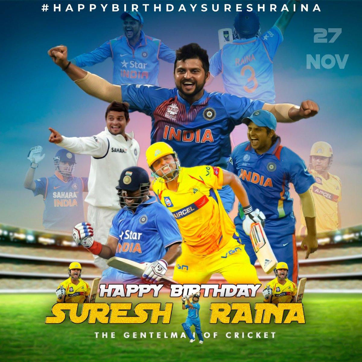 Wishing u a many many returns  of day my fav @ImRaina sir🎂🤗🥳🎉 #SureshRaina #HappyBirthdayRaina