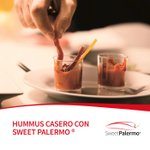 Image for the Tweet beginning: HUMMUS CASERO CON SWEET PALERMO  1