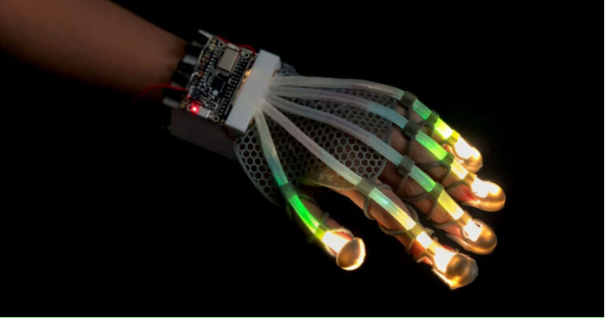 This new LED glove could let you touch things in virtual reality bit.ly/3maFDiu #VR #Technology