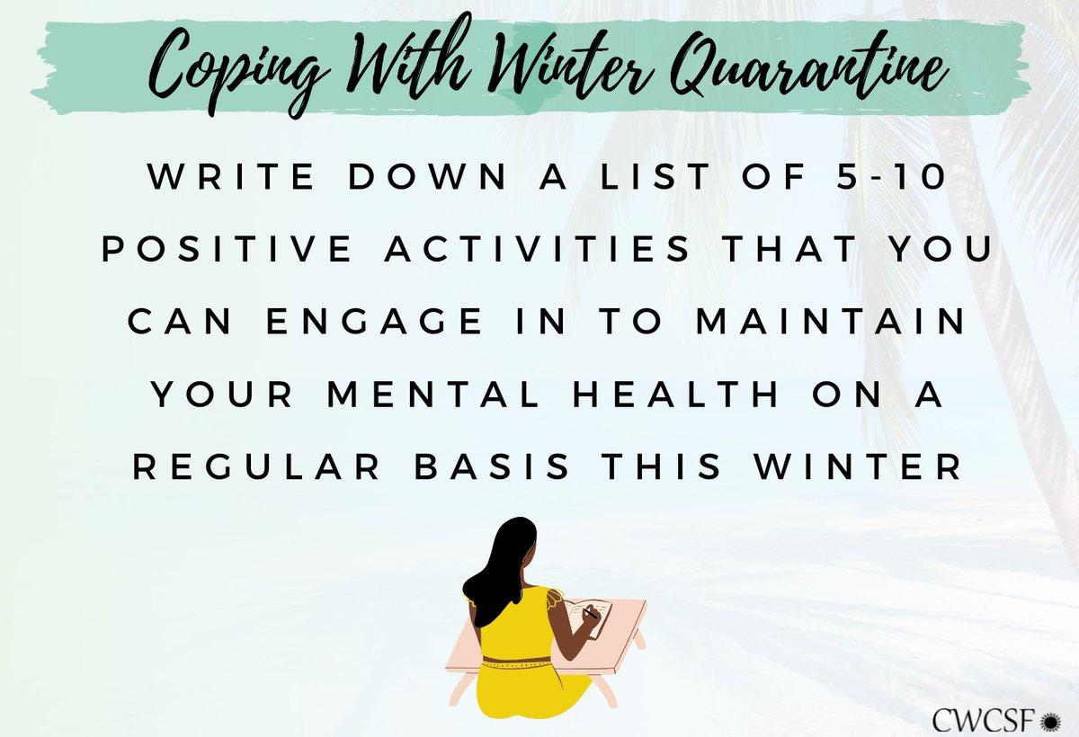 Winter Coping Ideas. #covid19 #WINTER #copingmechanisms #cwcsf