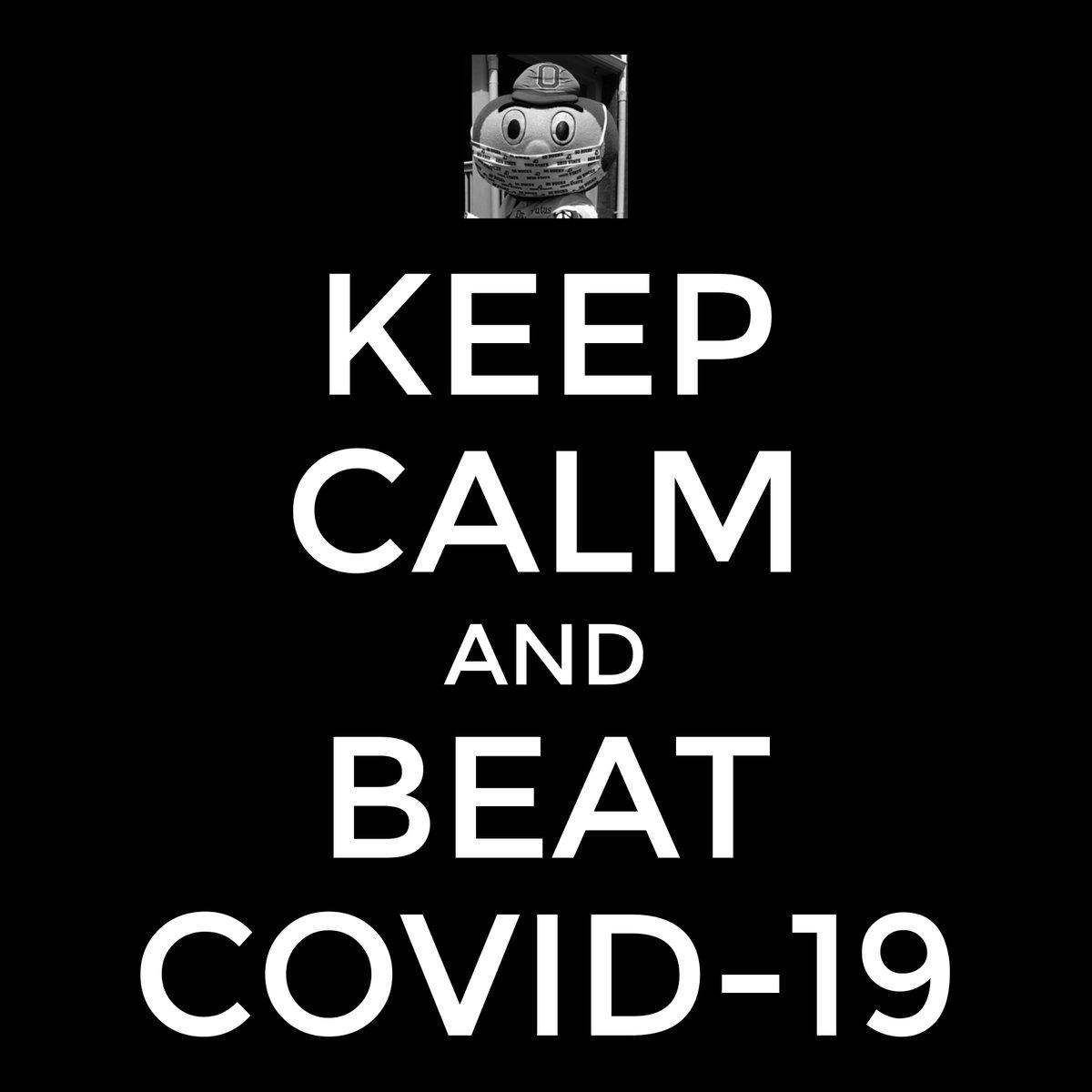 Keep calm and beat COVID-19  #GoBucks #OhioState  #BuckeyeNation #OhioStateFootball #buckeyes #beatCOVID19 #bubbles https://t.co/3xrbBDjyJR