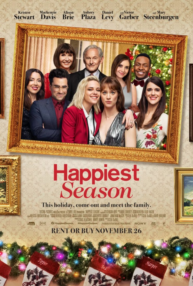 """""""Happiest Season"""" may be on the way to a holiday classic. Next up: """"Holidate"""" on Netflix.  #30daysofxmas"""