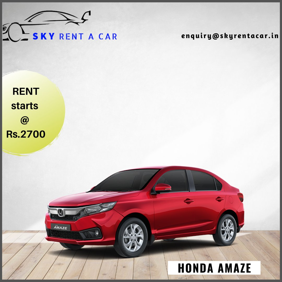 Compact and affordable sedan available for weekly and monthly rentals. Visit https://t.co/EVcXNhAkUf . . Call us: +91-9282444666 Email us: enquiry@skyrentacar.in . . #chennai #selfdrivecars #india #rentalcars #cars2021 #amaze #honda #audi #luxury #benz #rollsroyce https://t.co/KtWpCFHqqX