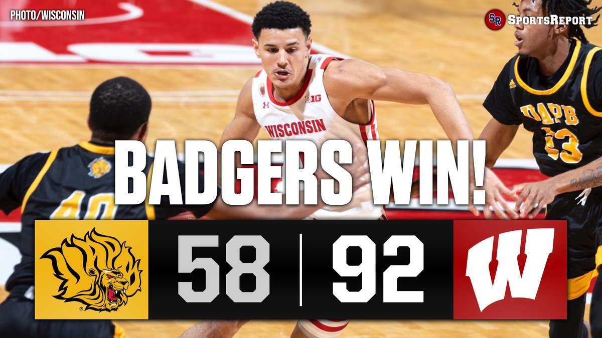 #BADGERS WIN!!! #Wisconsin improves to 2-0!!