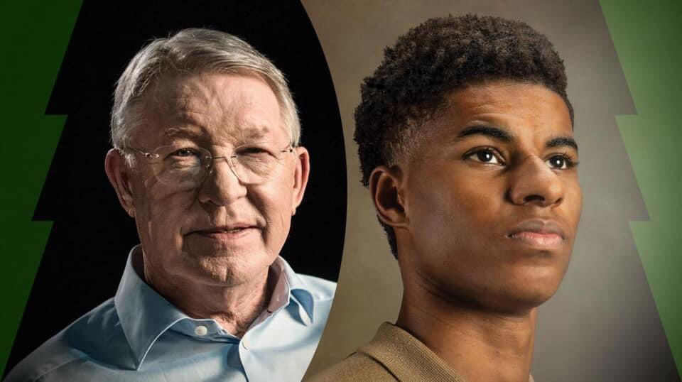 "Sir Alex: ""What Marcus [Rashford] has done is he's led the way in a big way that, hopefully, people from the same position that Marcus is in today, as a successful footballer, can join in and support this great campaign of the moment."" #MUFC 🔴"