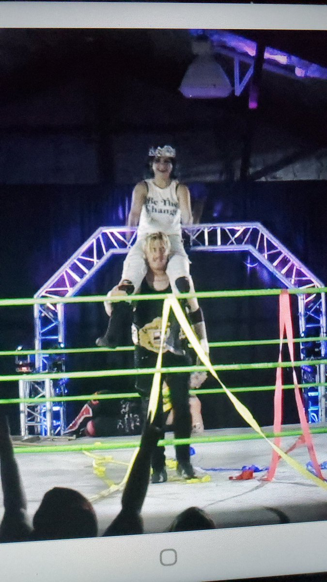 All hail the #KirkDynasty #AndStill @synergywrestle world champion @TheReal_Kirk #AndNew cruiserweight 👑 champion @CatalKasey #SPWBlackFriday @indiewrestling https://t.co/5RoX5VKWMJ
