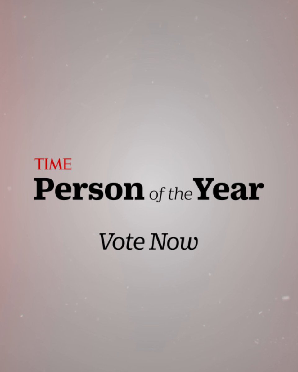 Who should be TIME's Person of the Year for 2020? Cast your vote for #TIMEPOY here:
