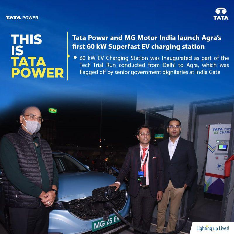 It's like a dream come true for many. It's really happening ! India has its first EV super charging station in Agra. A step closer to futuristic technology 👍