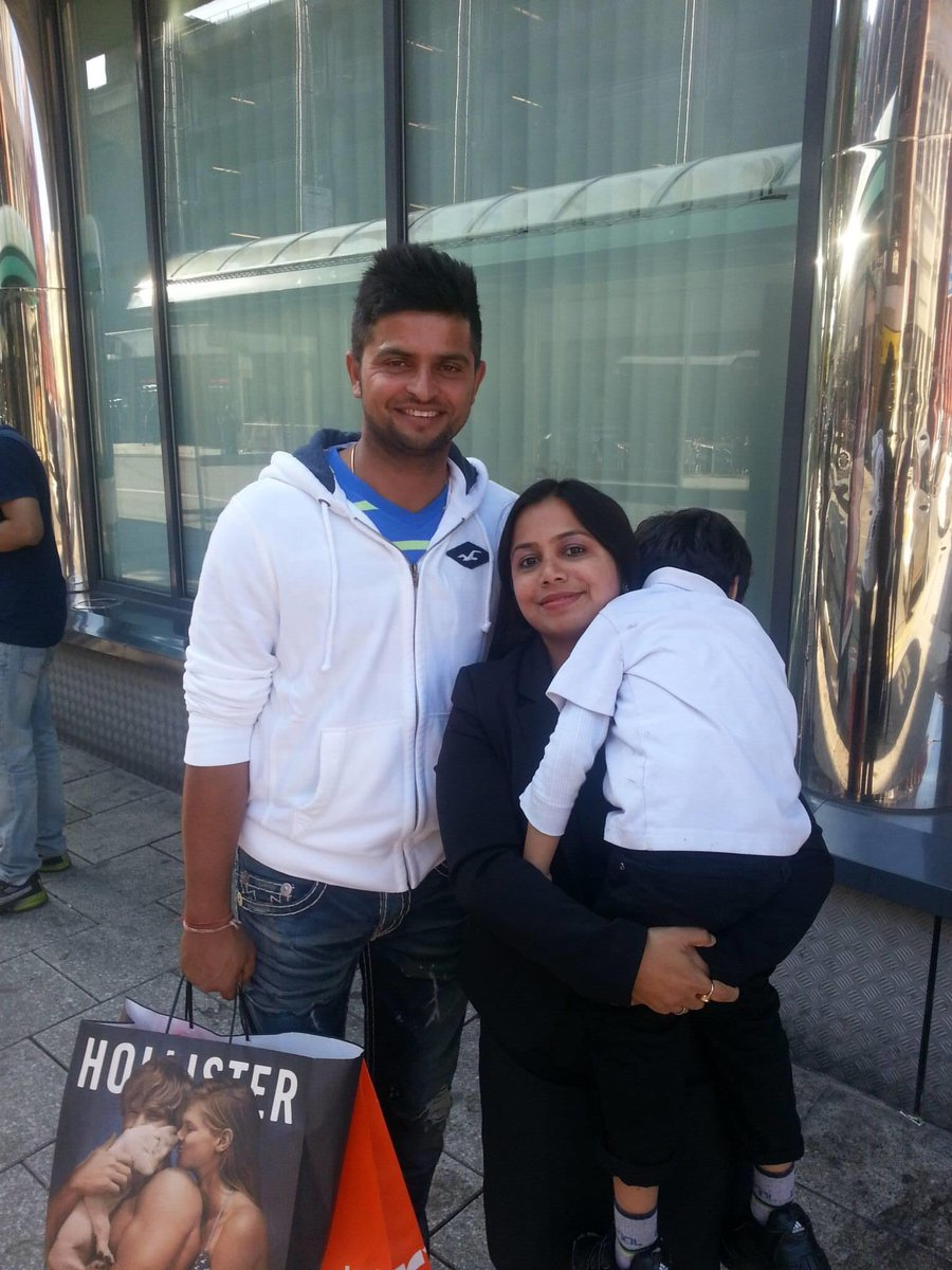 Happy birthday @ImRaina #SureshRaina . So humble and sweet to kids. He gave the retake to this picture. I always talk about his family values. Remember this pic was in 2013 Cardiff. #cardiff #cricket