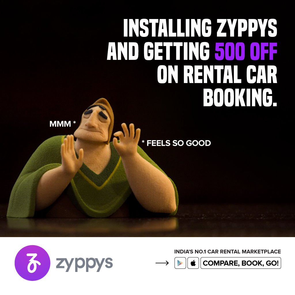 It always feels good to get a discount. Book your car rental with us on Zyppys and get 500 off  Start making your plans now with Zyppys.  Download Zyppys: https://t.co/PQVu6aafGX  #Zyppys #SafeTravel #Trips #Carrental #CarHire #Safetyfirst #SelfDriveCars #TravelTips https://t.co/SoLl9RSYJ4